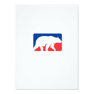 Grizzly Bear Walking Silhouette Rectangle Retro Card
