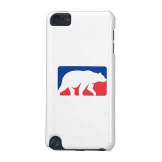 Grizzly Bear Walking Silhouette Rectangle Retro iPod Touch 5G Covers