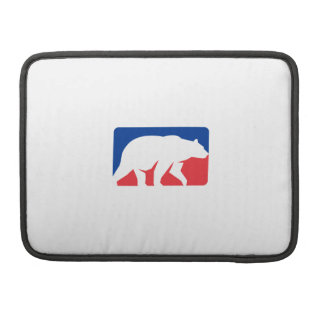 Grizzly Bear Walking Silhouette Rectangle Retro Sleeve For MacBook Pro