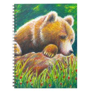 Grizzly Bear wildlife art Notebooks