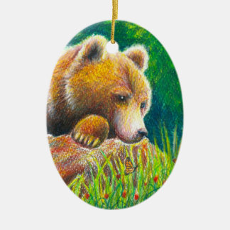 Grizzly Bear wildlife Ornament