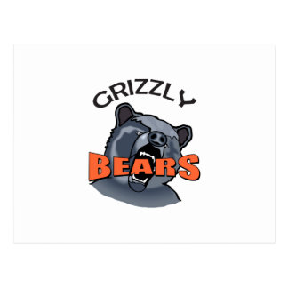 GRIZZLY BEARS MASCOT POSTCARD