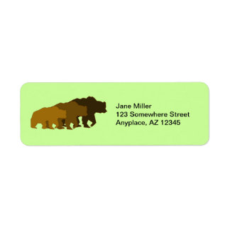 Grizzly Bears Return Address Label