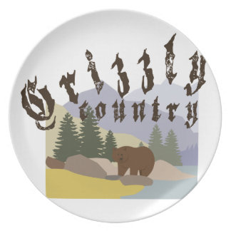 Grizzly Country Plate