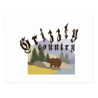 Grizzly Country Postcard
