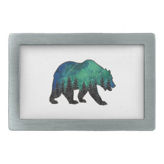 Grizzly Domain Rectangular Belt Buckle