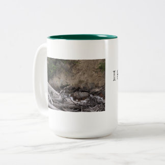 Grizzly face Two-Tone coffee mug