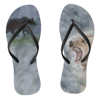 Grizzly Growl Flip Flops