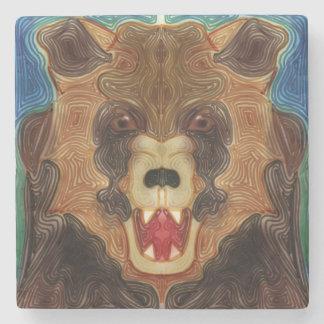 Grizzly Growl Stone Coaster