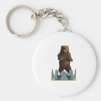 Grizzly Launch Basic Round Button Keychain