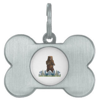 Grizzly Launch Pet Name Tag