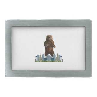 Grizzly Launch Rectangular Belt Buckle