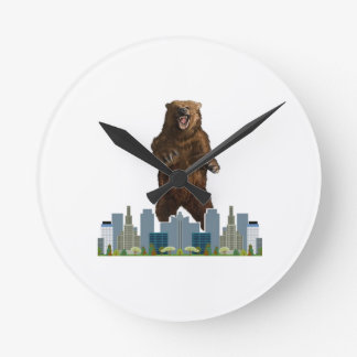 Grizzly Launch Round Clock