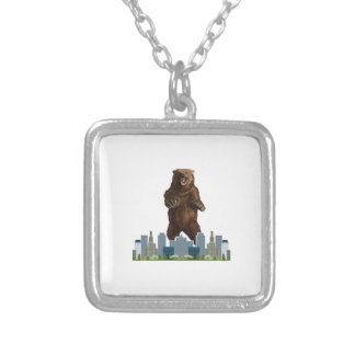 Grizzly Launch Silver Plated Necklace