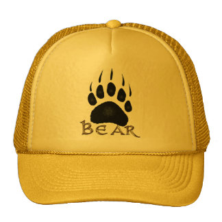 Grizzly Paw Print Wildlife Supporter Trucker Cap Trucker Hat