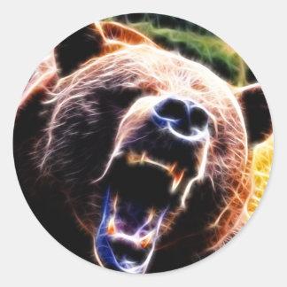 Grizzly Roar Classic Round Sticker