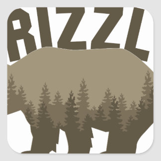 Grizzly Square Sticker