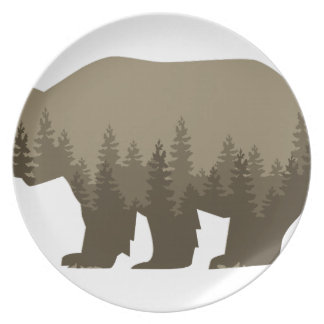Grizzly Trees Dinner Plate
