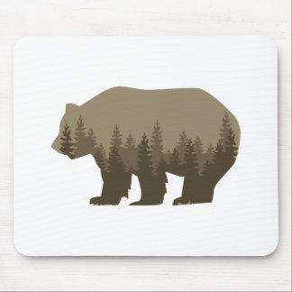 Grizzly Trees Mouse Pad