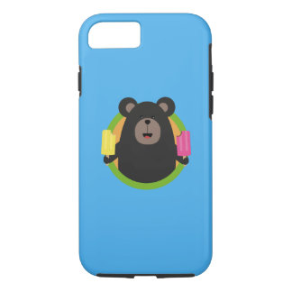 Grizzly with two Popsicle Q1Q iPhone 7 Case