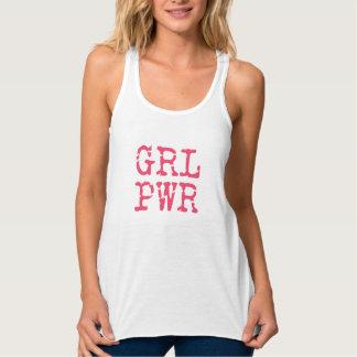 GRLPWR (girlpower) Fun Flowy Racerback Tank Top