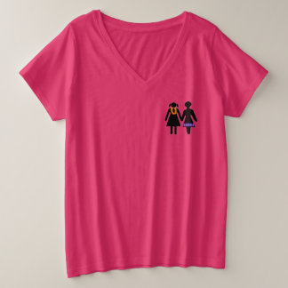 GRLZ on Vacation Plus Size V-Neck T-Shirt