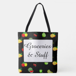 Groceries and Stuff Grocery Tote Bag