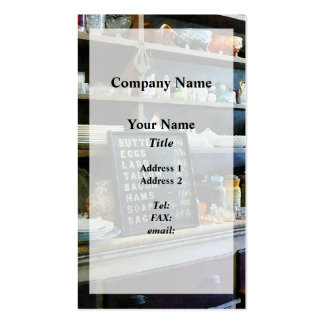 Groceries in General Store Business Card Template