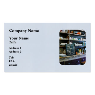 Groceries in General Store Business Card Templates