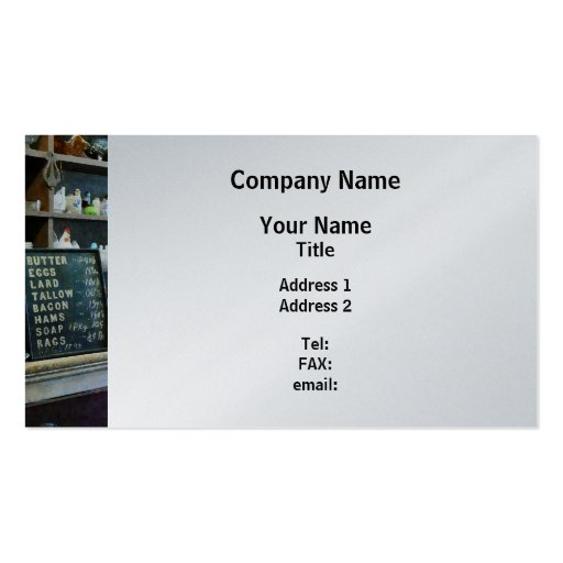 Groceries in General Store - Platinum Finish Business Card