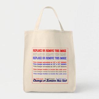 "Grocery 13""w x 15.5""h x 7""deep. Light Grocery Tote Bag"