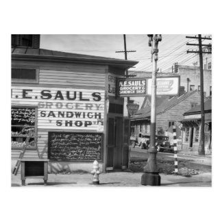 Grocery and Sandwich Shop, 1934 Postcard
