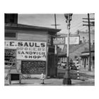 Grocery and Sandwich Shop, 1934. Vintage Photo Poster