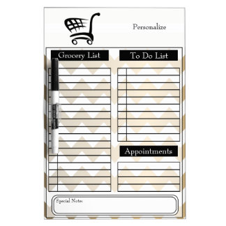 Grocery and To Do List Dry-Erase Boards