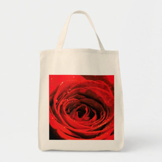 Grocery bag and the red rose