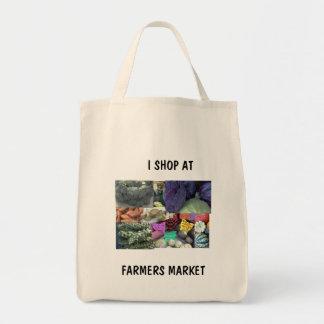 GROCERY BAG - I SHOP AT, FARMERS MARKET