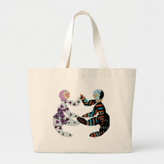 """grocery bags"" large tote bag"