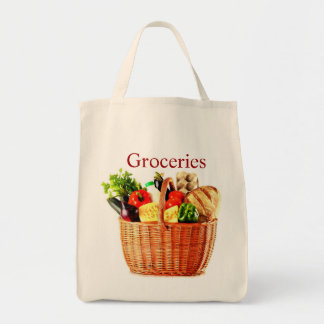 Grocery Basket Tote Bag