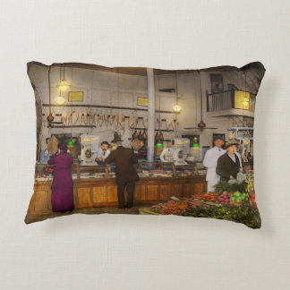 Grocery - Butcher - Sale on pork today 1920 Accent Pillow