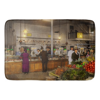 Grocery - Butcher - Sale on pork today 1920 Bath Mat