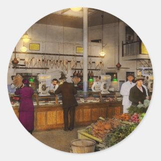 Grocery - Butcher - Sale on pork today 1920 Classic Round Sticker