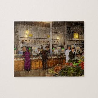 Grocery - Butcher - Sale on pork today 1920 Jigsaw Puzzle