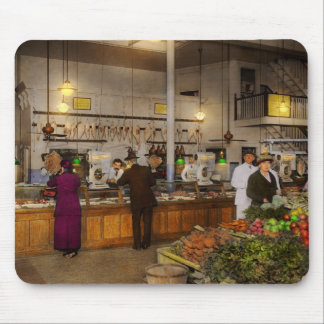 Grocery - Butcher - Sale on pork today 1920 Mouse Pad