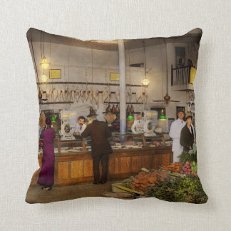 Grocery - Butcher - Sale on pork today 1920 Throw Pillow