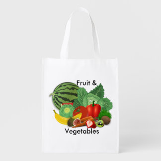 Grocery Fruit And Vegetable Reusable Grocery Bag