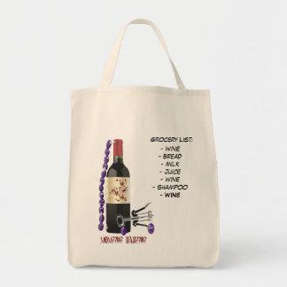 Grocery List:, - wine- bread- milk- ju...