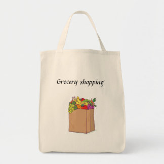 Grocery Shopping Grocery Tote Bag