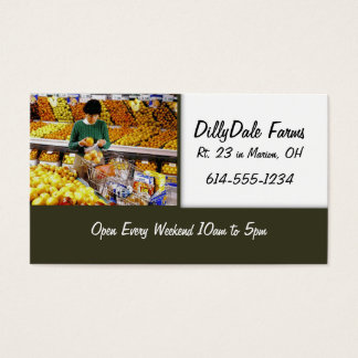 Grocery Shopping Store Mart Business Card