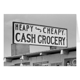 Grocery Sign, 1939 Card