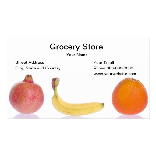 Grocery Store Business Card Business Card Templates